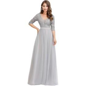 Ever-Pretty イブニングドレス ロングドレス 演奏会 パーティードレス ロング 秋冬 お呼ばれドレス ウェディングドレス ワンピース 結婚式 ドレス 大きいサイズ