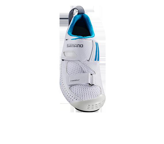 【7號公園自行車】SHIMANO SH-TR9 三鐵競賽菁英級女性車鞋(白/天藍)