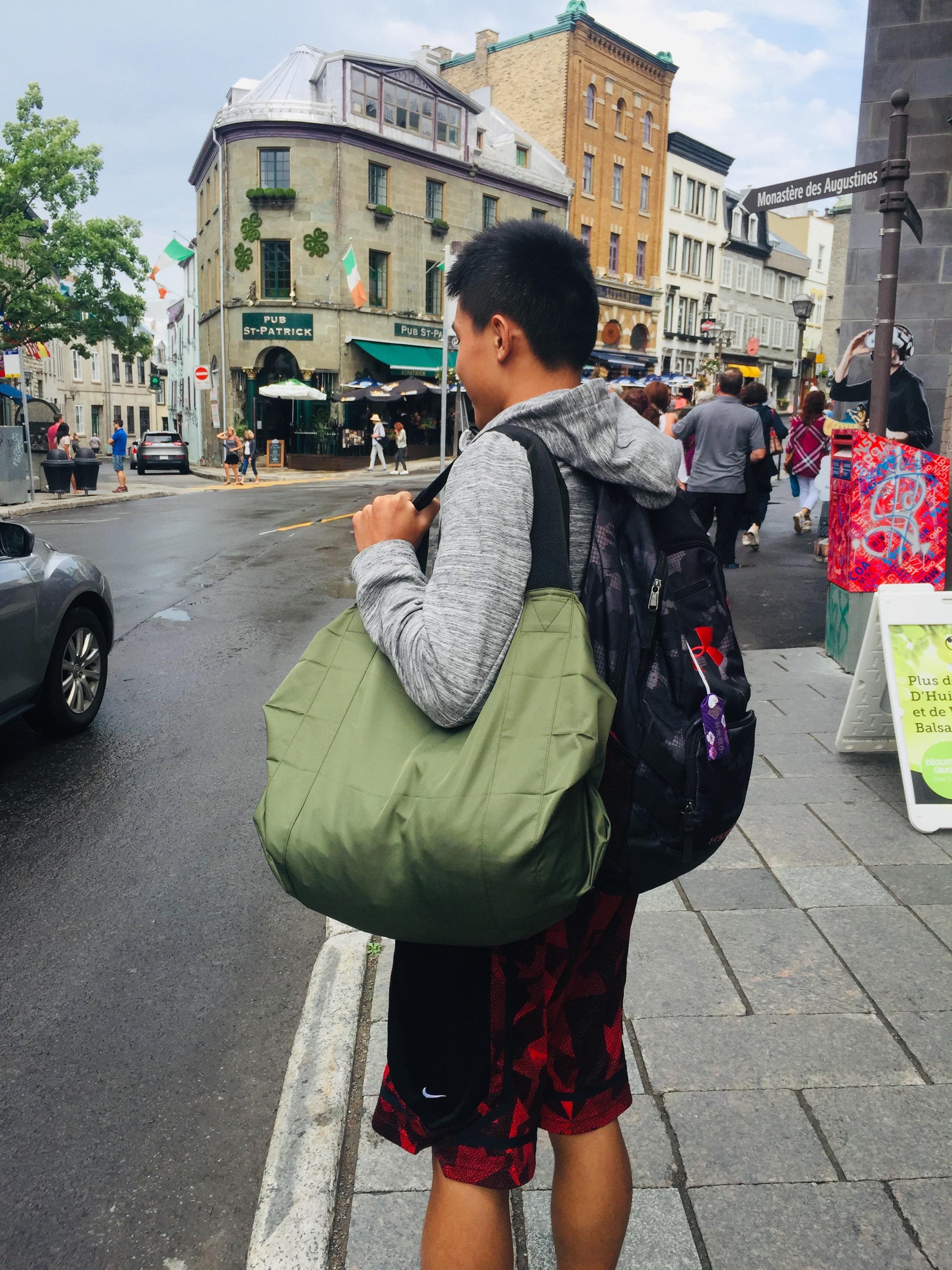 [現貨ing] 日本【MARNA】Shupatto 波士頓包, 可掛在行李箱桿上
