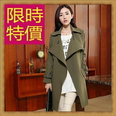 風衣外套女大衣-修身保暖迷人長版女外套4色62q22【韓國進口】【米蘭精品】