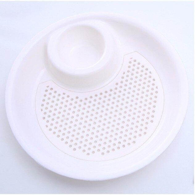 S-雙層水餃盤【S094】瀝水醬料水餃盤 大號水果瀝水盤 零食盤 水果盤