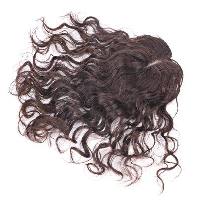 假髮片真髮絲-35cm捲髮補髮塊透氣女假髮2色73us18【獨家進口】【米蘭精品】