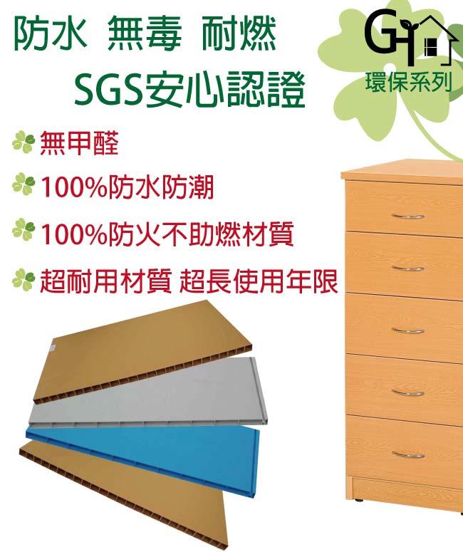 【綠家居】羅米斯 環保2.2尺塑鋼二抽餐櫃/收納櫃(二色可選)