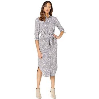 [LAUREN Ralph Lauren(ローレンラルフローレン)] ドレス・ワンピース Belted Shirtdress Mascarpone Cream Multi L [並行輸入品]