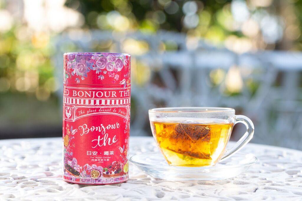 日安喝茶~閃電泡芙風味茶 12入茶包精緻粉紅罐