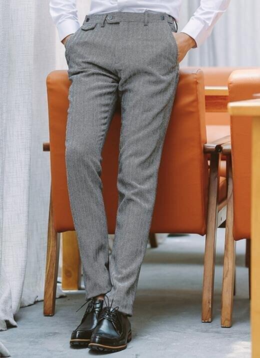 FINDSENSE品牌 韓國男毛呢人字紋 三件式西裝外套 兩件式西裝外套 修身西裝 西裝外套 外套+襯衫+褲子
