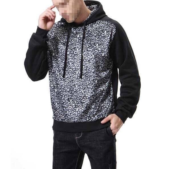 FINDSENSE品牌2019 新春 新款 韓國 豹紋 長袖 運動 連帽衛衣 外套  時尚 潮流上衣