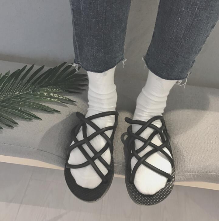 FINDSENSE品牌 男 時尚 潮 休閒 橡膠 麻繩 套腳 拖鞋 一字拖 沙滩拖鞋