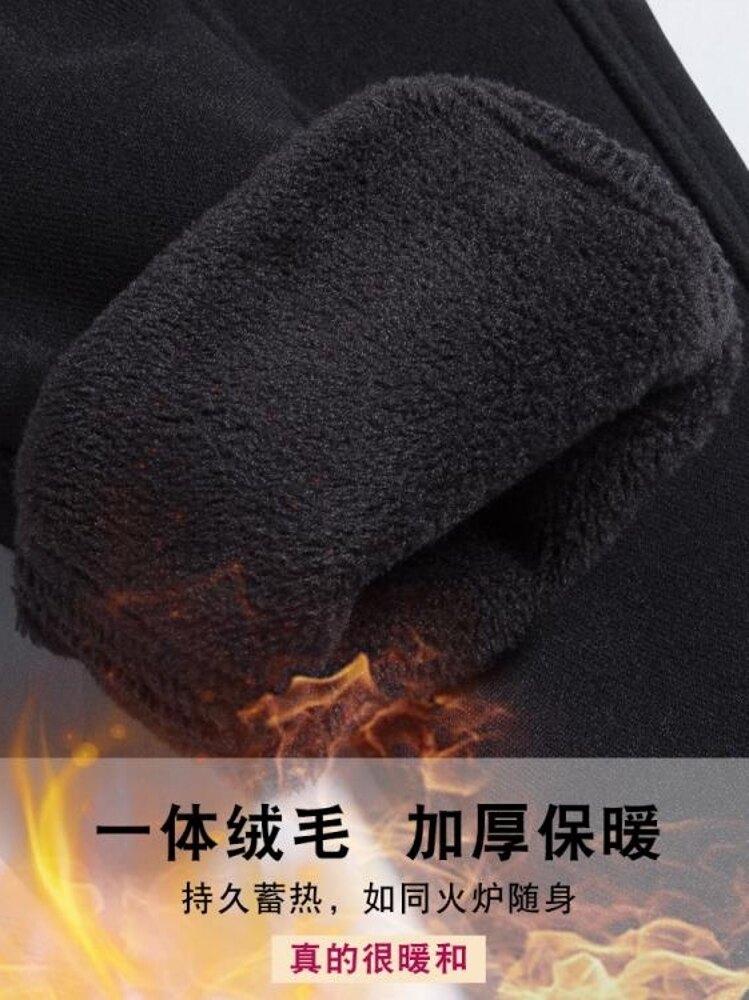 加絨加厚打底褲女外穿新款秋冬黑色顯瘦高腰小腳鉛筆褲子女冬 歐歐流行館