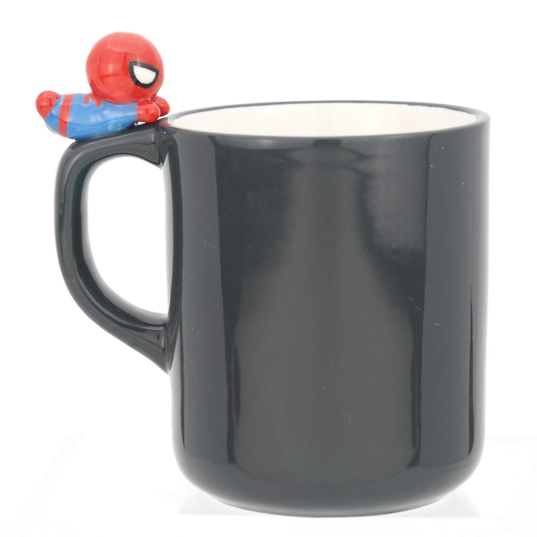 Marvel 復仇者聯盟 杯緣馬克杯260ml-蜘蛛人Spider-Man,水杯/馬克杯/杯瓶/茶具/生活用品/玻璃杯/不鏽鋼杯,X射線【C247913】