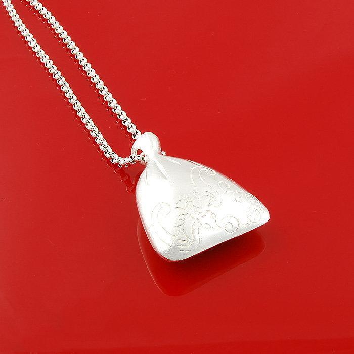新品銀項鏈女蝙蝠福袋錢袋長吊墜毛衣鏈銀飾