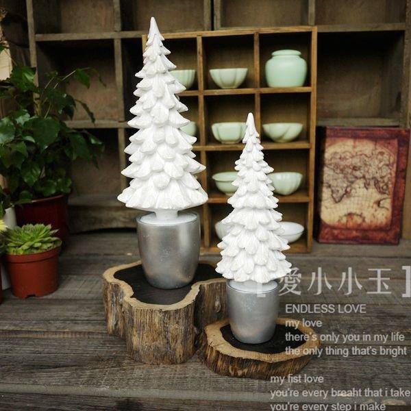 【心舞飛揚:雪松】簡約創意居家飾品結婚禮物時尚工藝品拍攝道具2個組