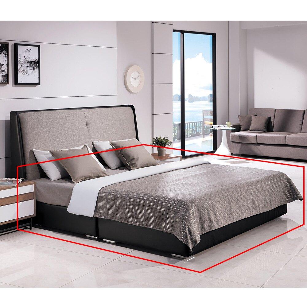 伊登深黑色5尺皮革厚式床底/H&D東稻家居-消費滿3千送點數10%