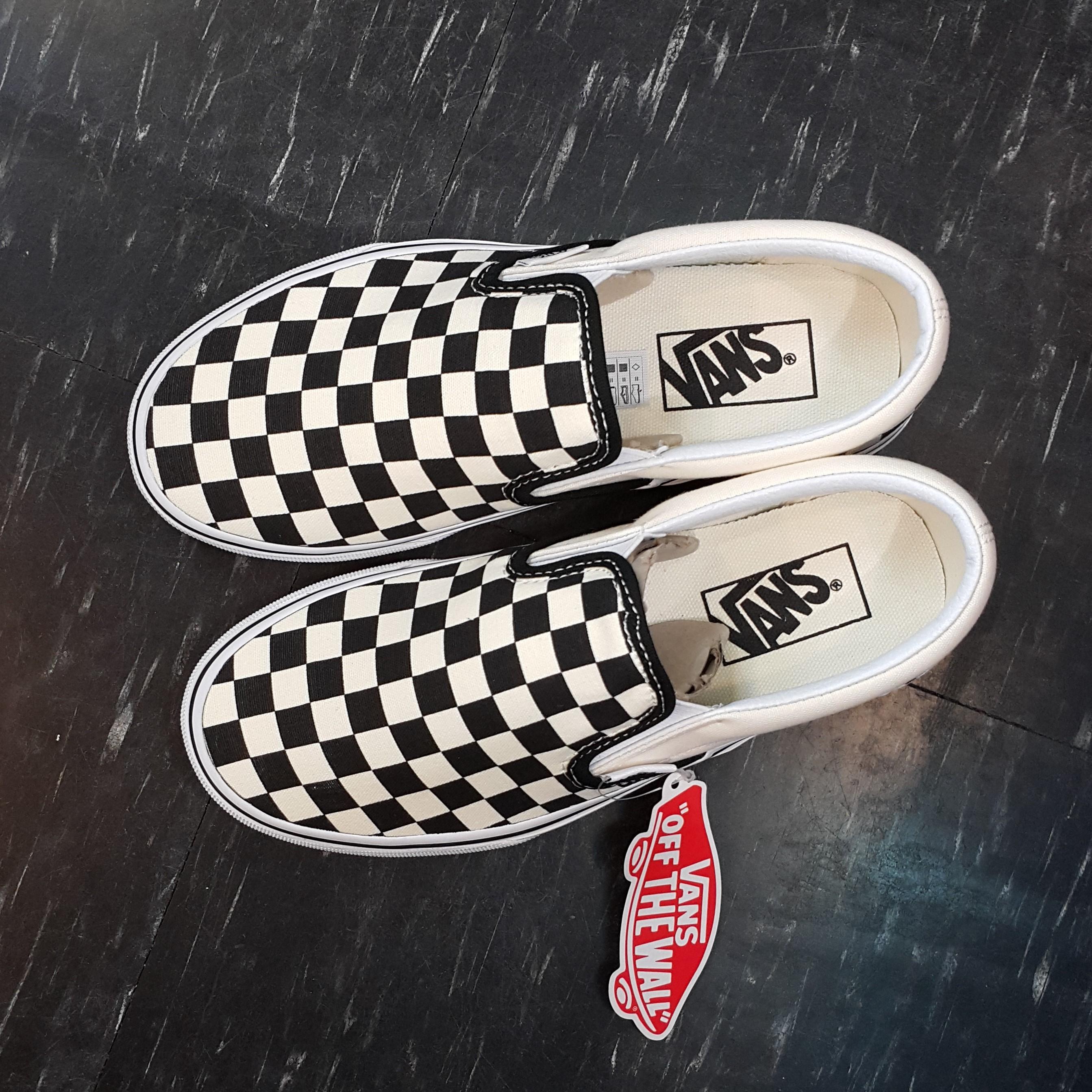 VANS Slip On 棋盤格 懶人鞋 黑白 黑色 白色 黑白格 基本款 經典款 帆布 板鞋 VN000EYEBWW