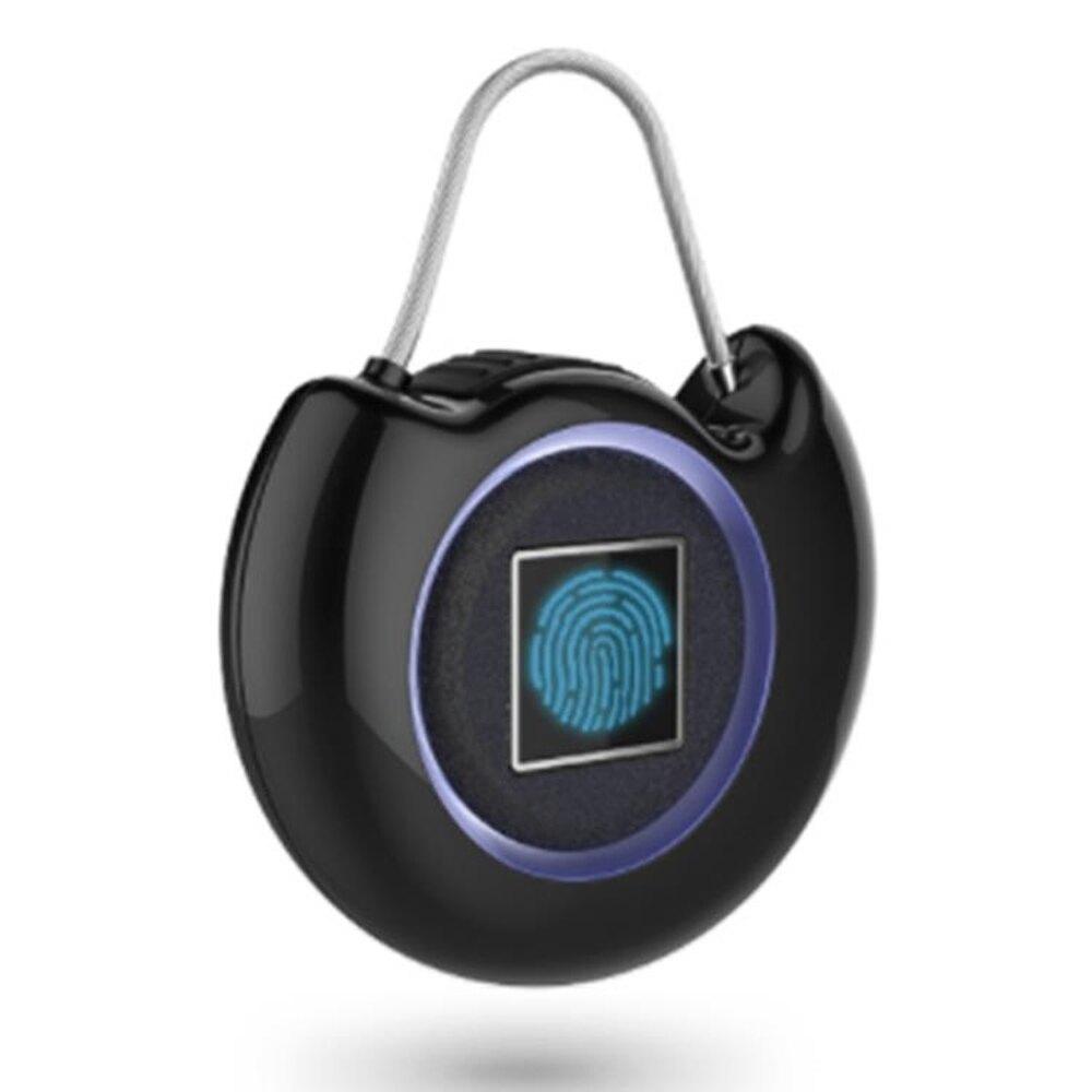 迷你智慧密碼指紋鎖 便攜行李小巧書包櫥櫃掛鎖超長自動報警ATF 新春鉅惠
