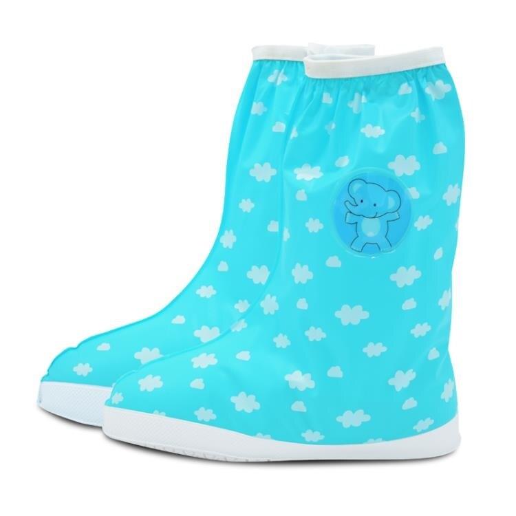 防水鞋套 卡通兒童雨鞋套男女童加厚耐磨防滑防沙腳套小孩學生雨天防水鞋套 全館八八折