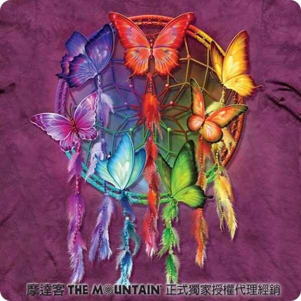 『摩達客』[ 預購 ]美國進口【The Mountain】自然純棉系列 彩蝶捕夢網 T恤
