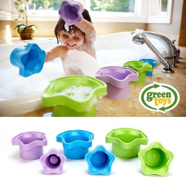 美國greentoys感統玩具-傑克的魔數杯【檢驗符合最高安全標準/沒有外部塗料,保證無毒】【紫貝殼】