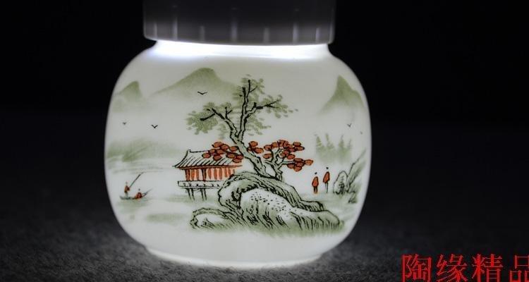 迷你花色小號茶葉罐富貴紅高檔通用陶瓷香粉中藥茶膏密封罐