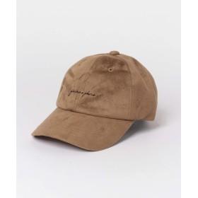 [センスオブプレイス] 帽子 キャップ スクリプトロゴキャップ(スエード) レディース MOCHA FREE
