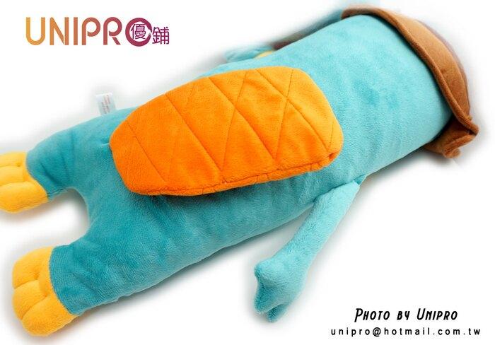 【UNIPRO】迪士尼 泰瑞鴨 特務P 造型長枕 絨毛娃娃 玩偶 飛哥與小佛 鴨嘴獸 Perry 正版授權