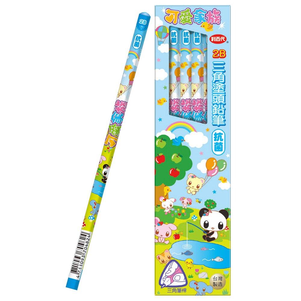 利百代 CB-142 可愛家族 三角鉛筆 (2B) (12入)
