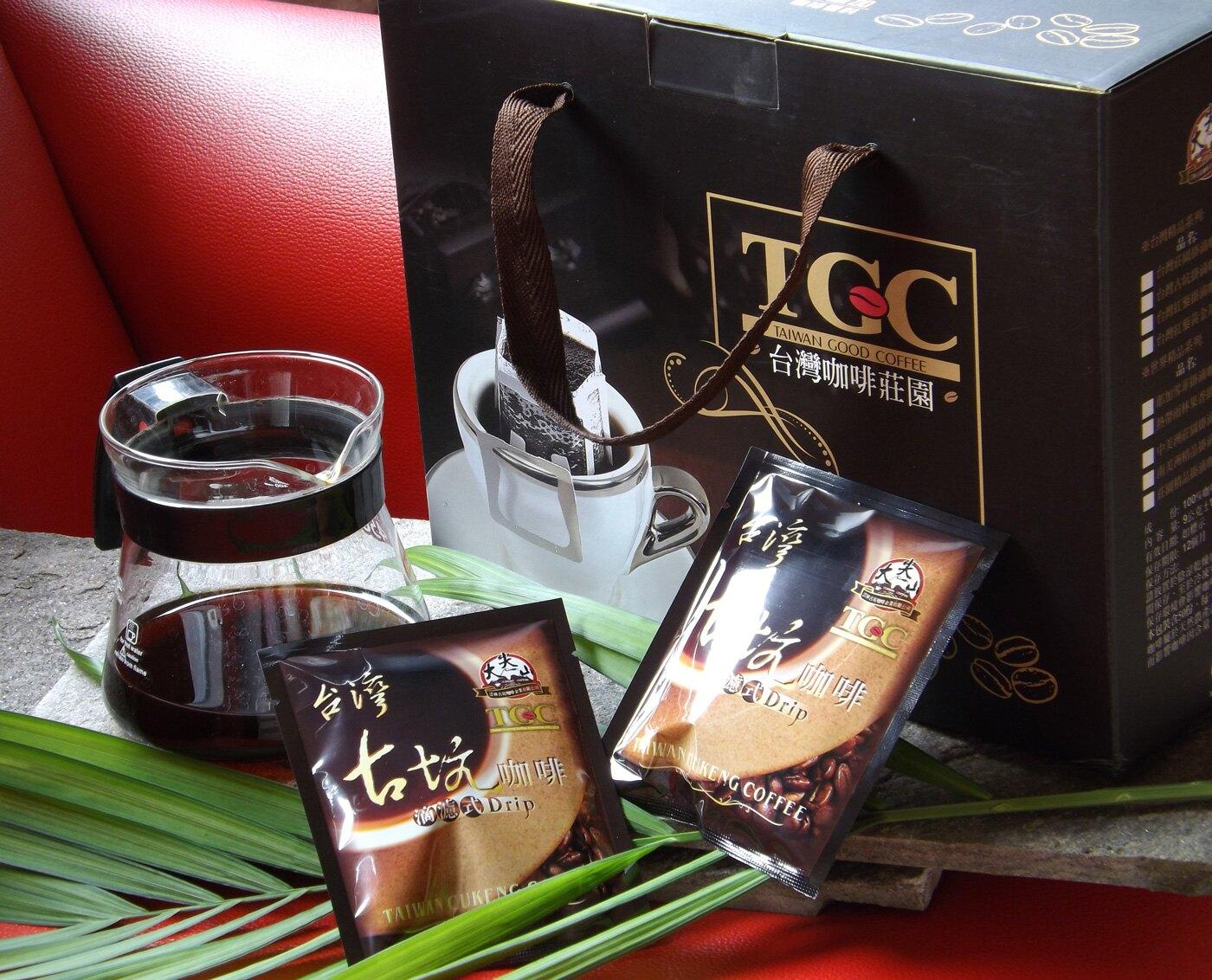 【TGC】台灣古坑濾掛式咖啡 50包,下訂後即新鮮烘培,100%阿拉比卡種單品莊園咖啡豆