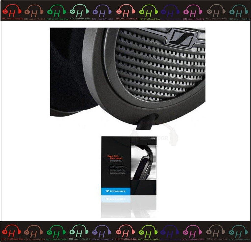 弘達影音多媒體 SENNHEISER HD-518 HD518 頭戴全罩式 公司貨   門市現貨展售.歡迎試聽免運費