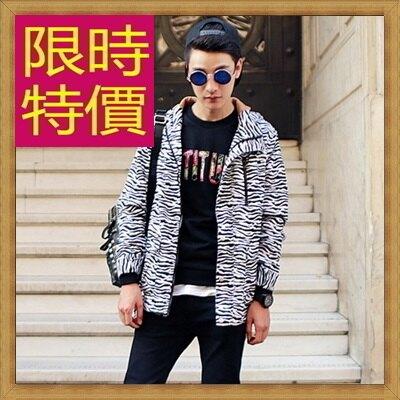 防風外套男夾克-日系修身流行時尚男連帽外套63j41【獨家進口】【米蘭精品】