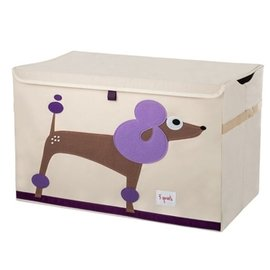 3 Sprouts 大型玩具收納箱 貴賓狗
