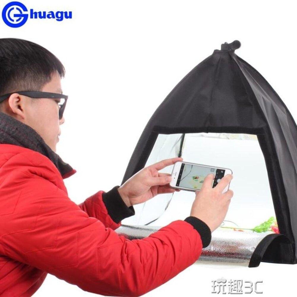 LED小型攝影棚套裝 迷你便攜拍照燈箱 簡易飾品道具拍攝器材
