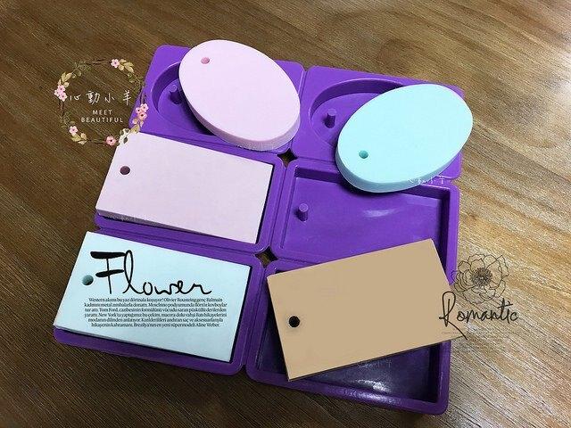 心動小羊^^DIY矽膠模具肥皂香皂模型矽膠皂模藝術皂模具香磚擴香石環狀圓+片狀圓6孔吊飾模