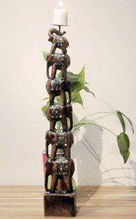 家居裝飾品/羅漢六象燭台/擺設/擺件/擺飾