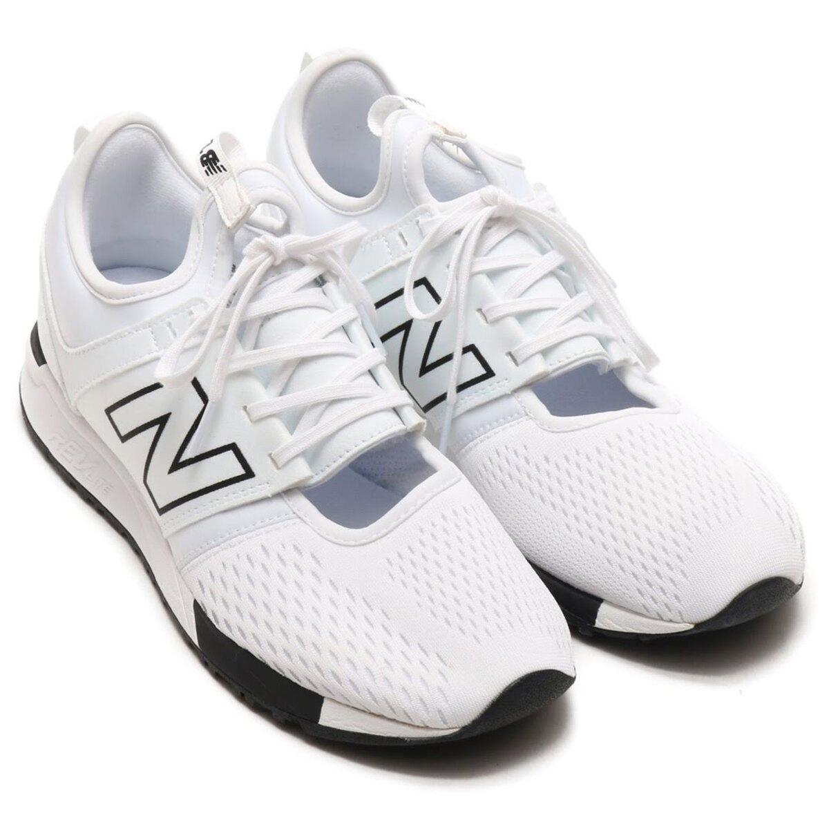 New Balance 247 男鞋 女鞋 休閒 網布 輕量 透氣 白 黑【運動世界】MRL247SQ
