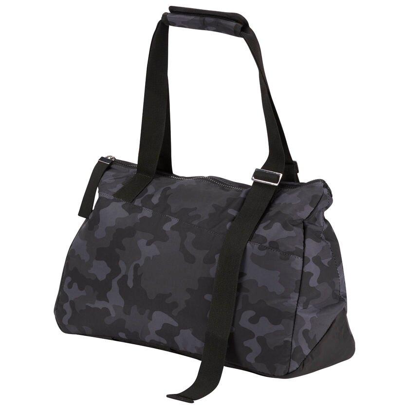 【領券最高折$400】REEBOK ENH LEAD & GO DUFFLE BAG 行李袋 肩背 健身 休閒 筆電 迷彩 黑【運動世界】 CV3551