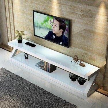 電視櫃電視桌 鋼化玻璃電視柜茶幾組合套裝小戶型客廳簡易現代簡約電視機柜迷你     伊卡萊生活館  聖誕節禮物