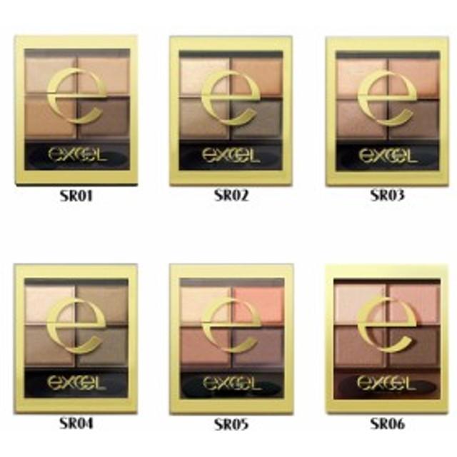 【メール便・後払い可】エクセル スキニーリッチシャドウ 4色アイシャドウ 4.3g 全6色 国内正規品 excel えくせる アイシャドウ