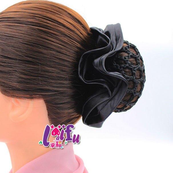 來福髮網,K1199髮飾包頭頭花頭飾員工蝴蝶結髮夾上班髮網職業髮夾,售價150元