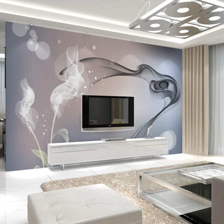 現代簡約3D立體客廳電視背景牆壁紙影視牆壁畫臥室牆紙牆布