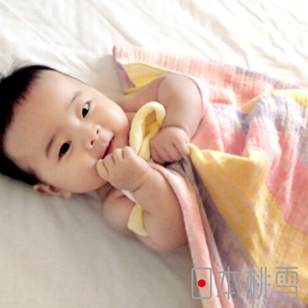 日本桃雪【二層紗嬰兒包巾】共4色(100x100cm)