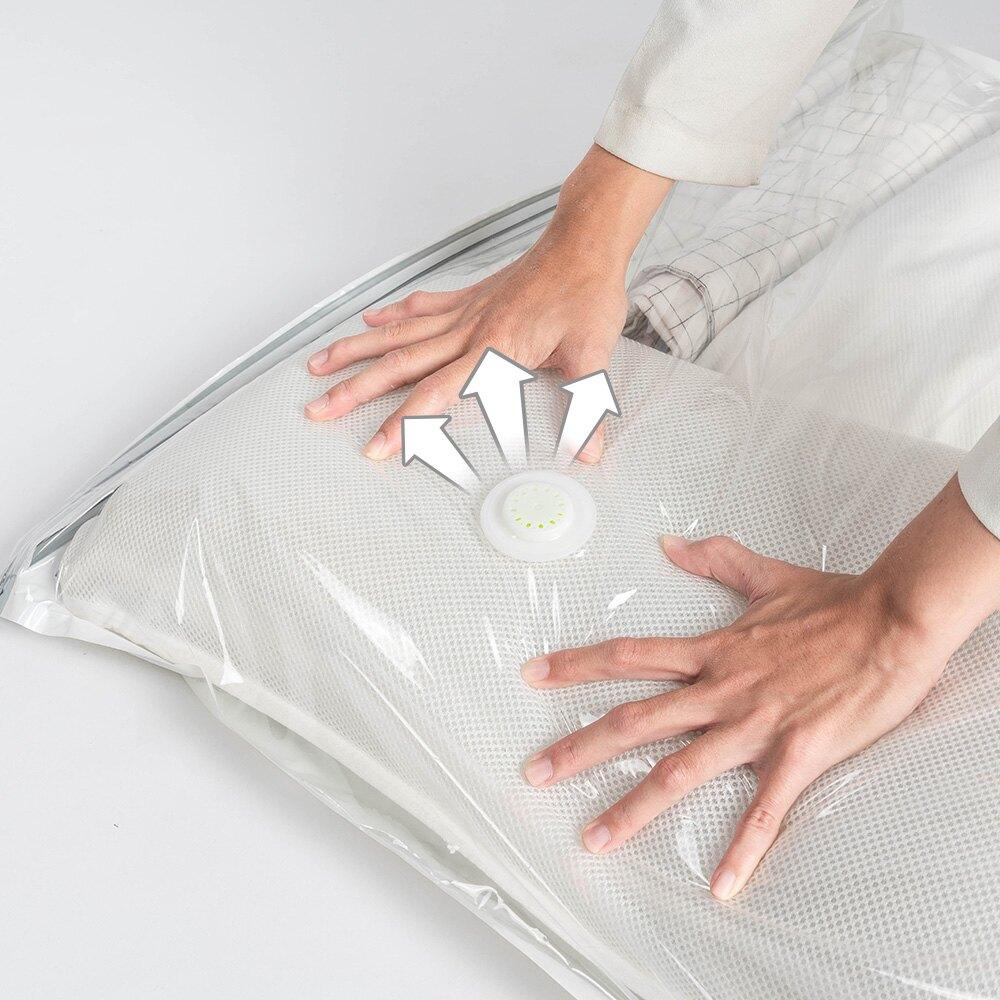 免抽氣立體式壓縮袋 旅行收納袋 衣物收納 大號 80x100x38cm【I051】