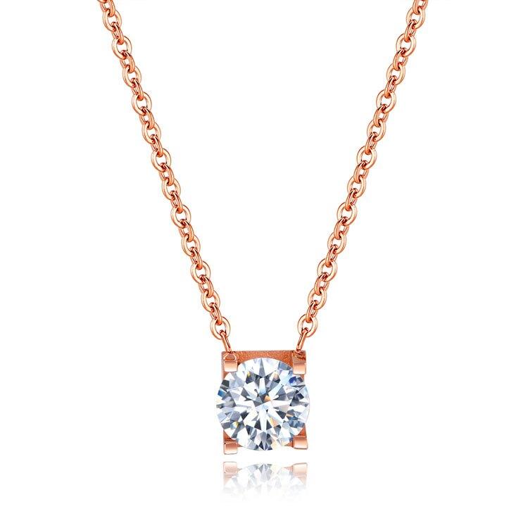 【5折超值價】時尚精美氣質鑲金鑽造型女款項鍊