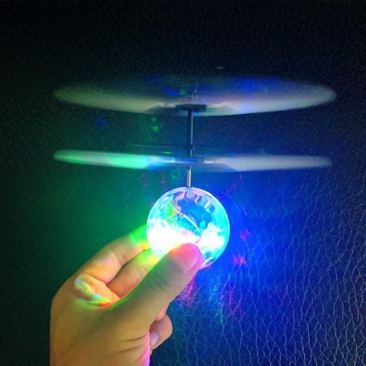 七色光水晶球感應飛行器遙控飛機耐摔感應懸浮球充電兒童玩具禮品   秋冬新品特惠