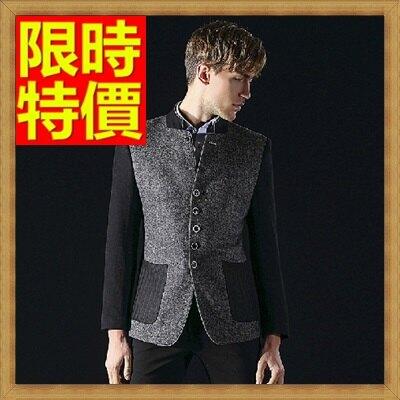 中山裝唐裝男外套-休閒羊毛中國風男西裝外套65e44【獨家進口】【米蘭精品】