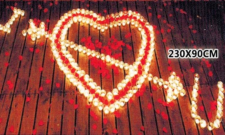 排字 求婚 表白 情人節 蠟燭套餐 豪華 I ? U 一箭穿心 三款式 求婚蠟燭 42號【塔克】