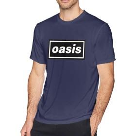 Tシャツ 男性 OASIS オアシス 半袖 カットソー 若者 スポーツ 丸首 夏 通気性 おしゃれ サイズ有り