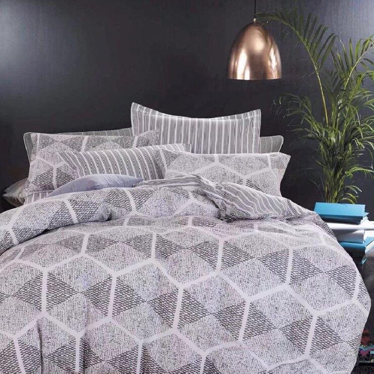 100%精梳棉涼被床包組四件式雙人/加大-奢華時代