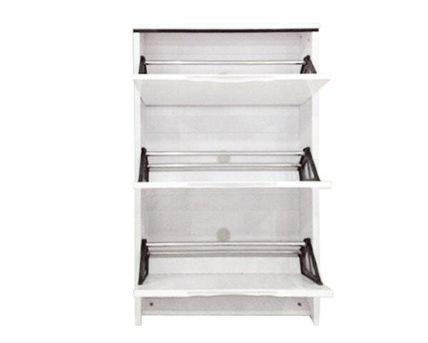 【YUDA】史翠 2.3尺 白色 三門 掀式 鞋櫃  J8F 305-3