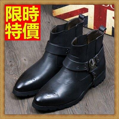 機車靴男靴子-真皮革休閒男牛仔靴2色65h41【獨家進口】【米蘭精品】