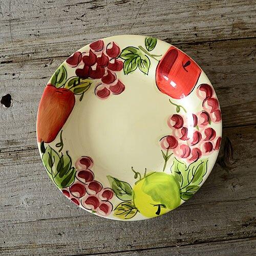 手繪陶瓷|9.5寸西餐盤|